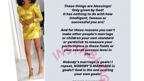 Being married, having kids are not achievements — TV Personality Bukunmi
