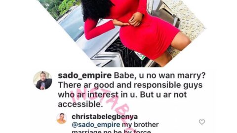 """""""Marriage no be by force,"""" Actress Christabel Egbenya tells a concerned follower"""