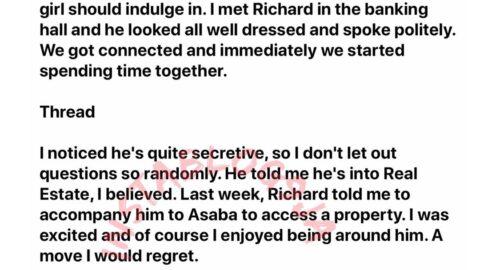 How my boyfriend almost used me for money ritual in Asaba, Delta State — Survivor. [Swipe]