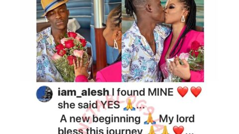 Nollywood actor Alesh Sanni is engaged