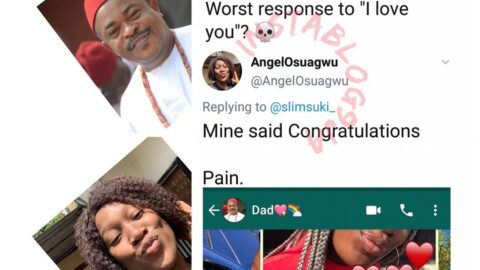 """Actor Victor Osuagwu's daughter shares his epic reply after she told him """"I love you."""""""