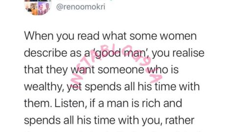 If a man is rich and spends all his time with you, he is likely a fraudster — Reno Omokri