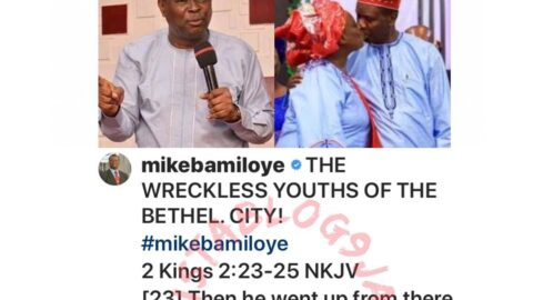 """""""Single youth are insulting a man that has been married for 52 years,"""" Evang. Bamiloye berates those attacking Pastor Adeboye. [Swipe]"""