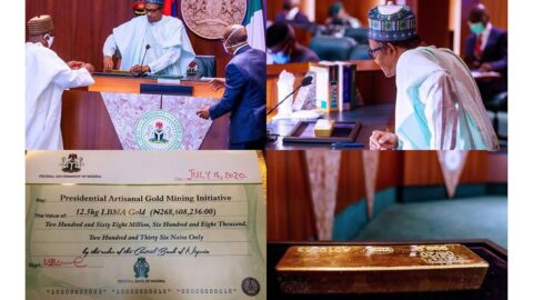 Nigeria finally begins refining its own gold and stockpiling it in reserve .