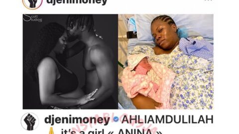 DJ Enimoney and girlfriend, Iwalewa, welcome their 2nd child together