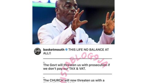 Comedian Basketmouth laments the tax and tithe threats in Nigeria