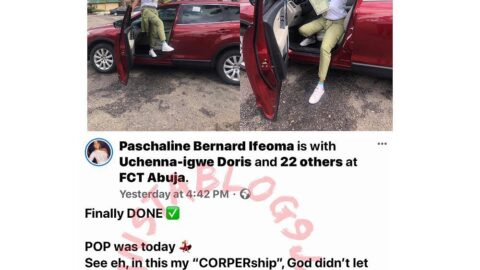 Fish seller buys herself a car to celebrate passing out of NYSC. [Swipe]