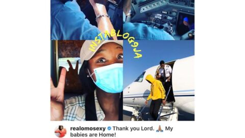 Covid-19: Actress Omotola thanks her husband for personally flying a private Jet to the U.S to retrieve their children