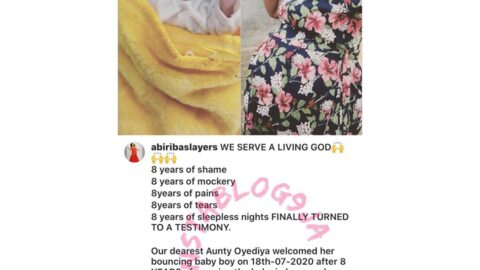 First picture of the lady who finally gave birth to a baby boy after 8yrs of carrying the pregnancy