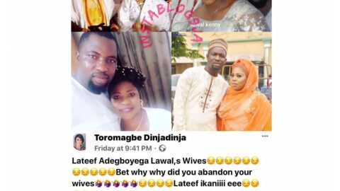 Newlywed actress Lizzy Anjorin's husband, Lateef Lawal, accused of abandoning his 5 wives and numerous children. [Swipe]