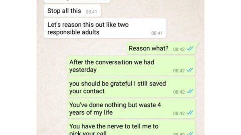 """""""For a Lagos rich man, being faithful is hard,"""" man tells his girlfriend after being caught cheating again. [Swipe]"""