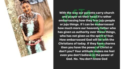 It's embarrassing how our over-religious Christian parents fear juju — Actress Etinosa