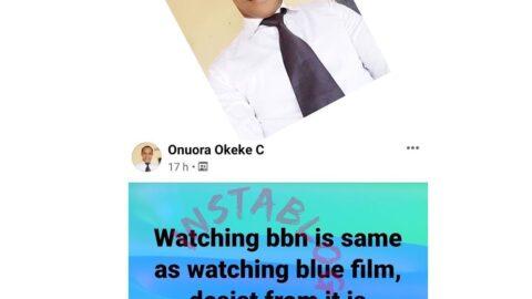 Avoid watching BBN to avoid spiritual husband/wife — Pastor Okeke