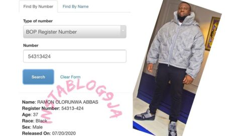 Information available on the U.S Federal Bureau Of Prisons website, indicates Hushpuppi has been released