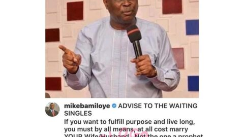 To live long, don't marry a wife/husband recommended by your pastor or parents — Pastor Mike Bamiloye
