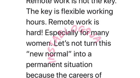 Let's not make remote work the new normal cause it's hard for women — Barrister Moe
