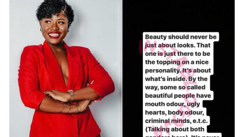 Beauty should never just be about looks — Reality TV Star, Alex