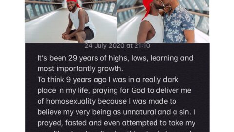I was made to believe that being gay is a sin — Pastor turned LGBGQ activist Yomi. [Swipe]