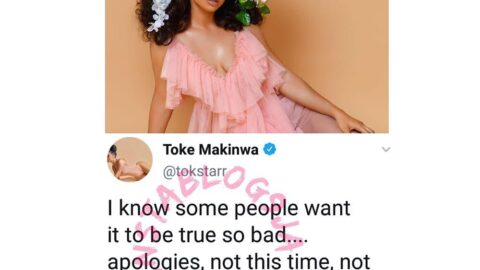 House repossession rumor: I know some people want it to be true so bad — Toke Makinwa
