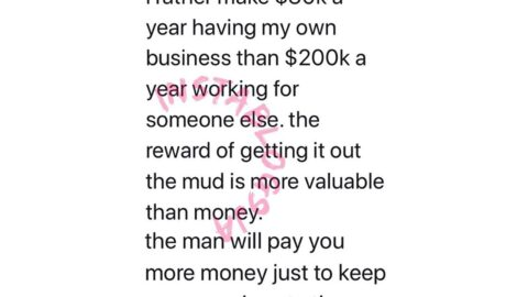 I'd rather make $30k a year having my own business than $200k a year working for someone else — Youtuber