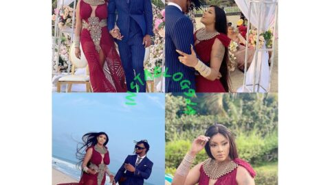 Actress Angela Okorie and fiancé tie the knot