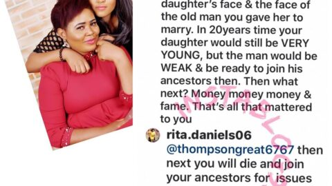 """""""You will die and join your ancestors,"""" Regina Daniels' mom replies another troll who confronted her over her daughter's marriage"""