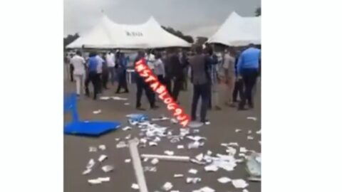 Graphic: Contestant savagely stabbed as the Chairmanship election of the Nigerian Medical Association turns violent in Enugu State. [Swipe]