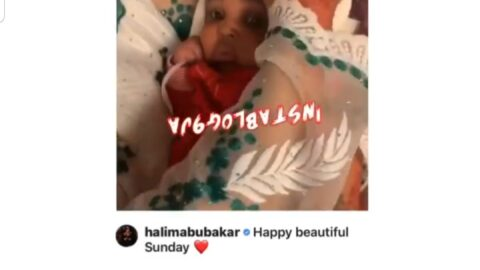 Months after being accused of using someone else's picture to announce his arrival, actress Halima Abubakar unveils her cute son