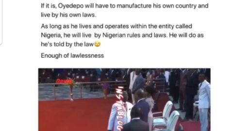 """CAMA: """"You'll have to manufacture your own country,"""" Pres. Buhari's aide replies Oyedepo"""
