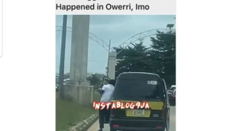 VIO risks his life to secure the bag in Owerri, Imo State
