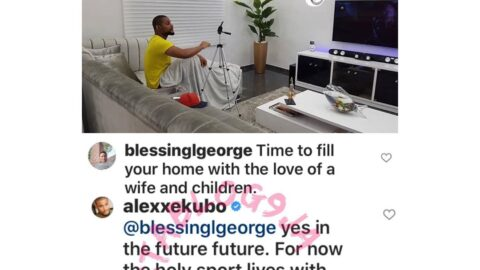 """""""The holy spirit lives with me,"""" Actor Alex Ekubo replies a troll who advised him to get married"""
