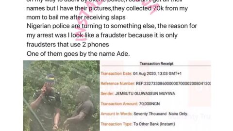 Edo police allegedly arrest, extort a man simply because he looks like a fraudster