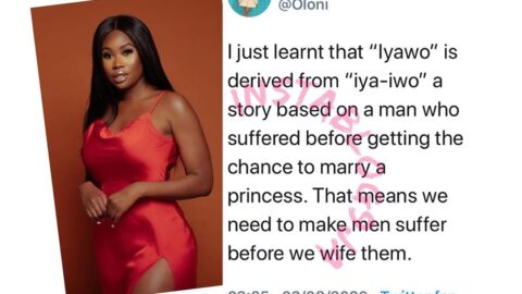 Women are ideally meant to make men suffer before marriage — Relationship blogger Oloni