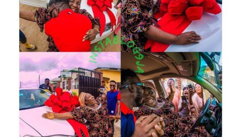 """Dj Kaywise got his mom screaming """"joor o, joor o, joor o,"""" as he surprises her with a car on her birthday"""