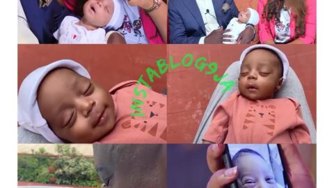 Actress Regina Daniels and billionaire Ned Nwoko finally reveal the face of their son