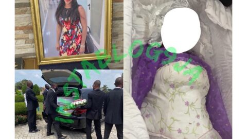 FAAN worker crushed to death by a fallen container, Chidinma Ajoku, laid to rest in Ikoyi cemetery, Lagos [Swipe]