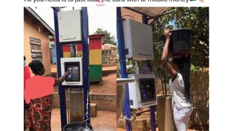 Ghana installs Water ATM card access in the Eastern region of the country. 📸: NebaSark