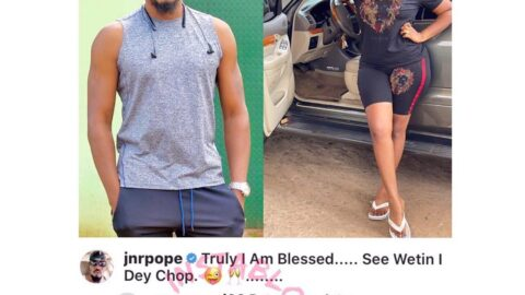 Actor JnrPope educates a troll who mocked him for not marrying his wife a virgin