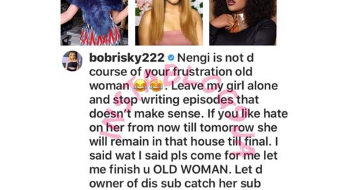 """""""Nengi is not the cause of your frustration,"""" Bobrisky reacts after Toyin Lawani accused Nengi of once attacking her by proxy. [Swipe]"""