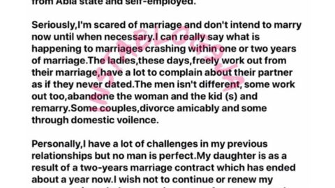 Why I need a lady between the ages of 24 and 40 for a 2-year contract marriage — Nigerian man. [Swipe]