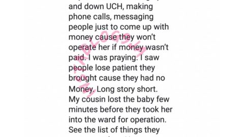 """""""Money is more than life in Nigeria hospitals,"""" Lady says, after losing her cousin at birth"""