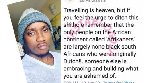 Someone else is embracing and building what you are ashamed of — Singer Brymo tells those running away from Nigeria