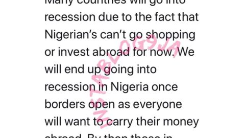 Covid-19: Many countries will go into recession due to the fact that Nigerians can't go shopping for now — Whitenigerian