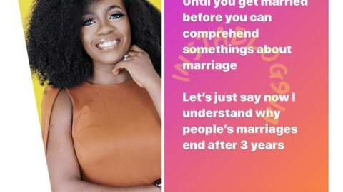 A year into marriage, media personality, Shade Ladipo, says she now understands why marriages end after 3 years