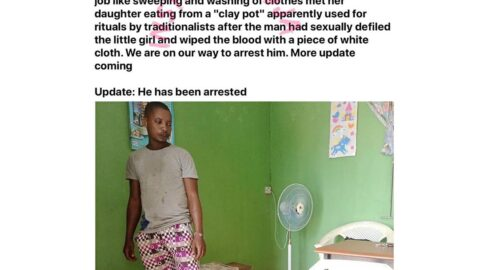 Man arrested for allegedly defiling 8-yr-old girl and using her for rituals in Lagos State