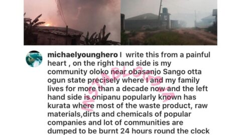 With a heavy heart, singer Owolabi writes about a pollution killing children in his Ogun State community. [Swipe]