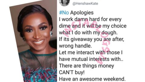 """""""I work damn hard for every dime,""""Actress Kate Henshaw tells giveaway seekers"""