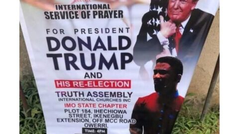 Re-election hope for Donald Trump, as Nigerian pastor holds a special international prayer for him