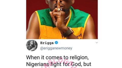 Nigerians fight for God but can't fight for their rights — Rapper Erigga