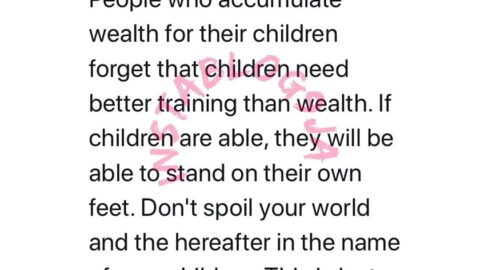 People who accumulate wealth for their children, forget that children need better training than wealth — Journalist Saleh